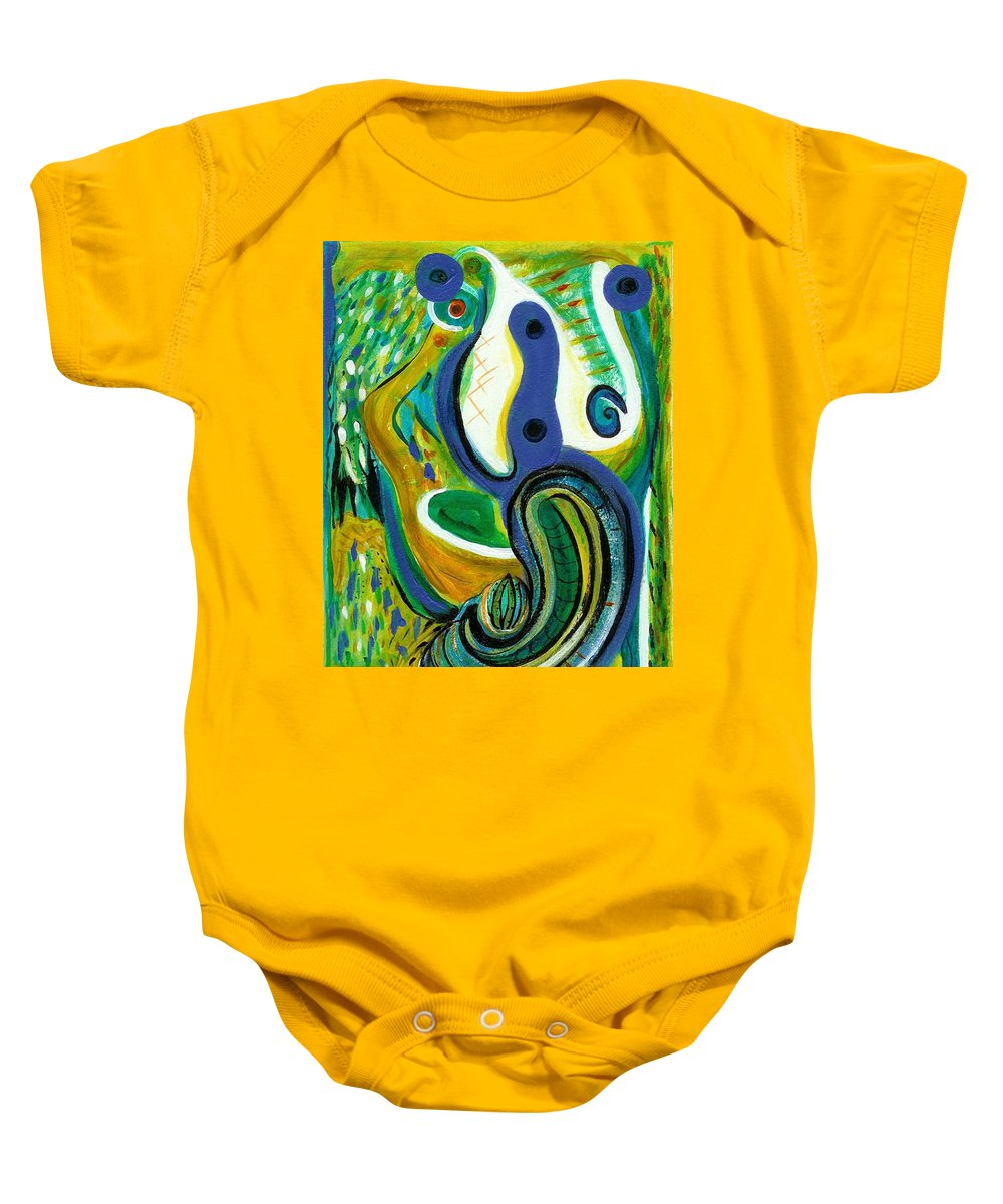 Abstract Art Baby Onesie featuring the painting The Garden by Stephen Lucas