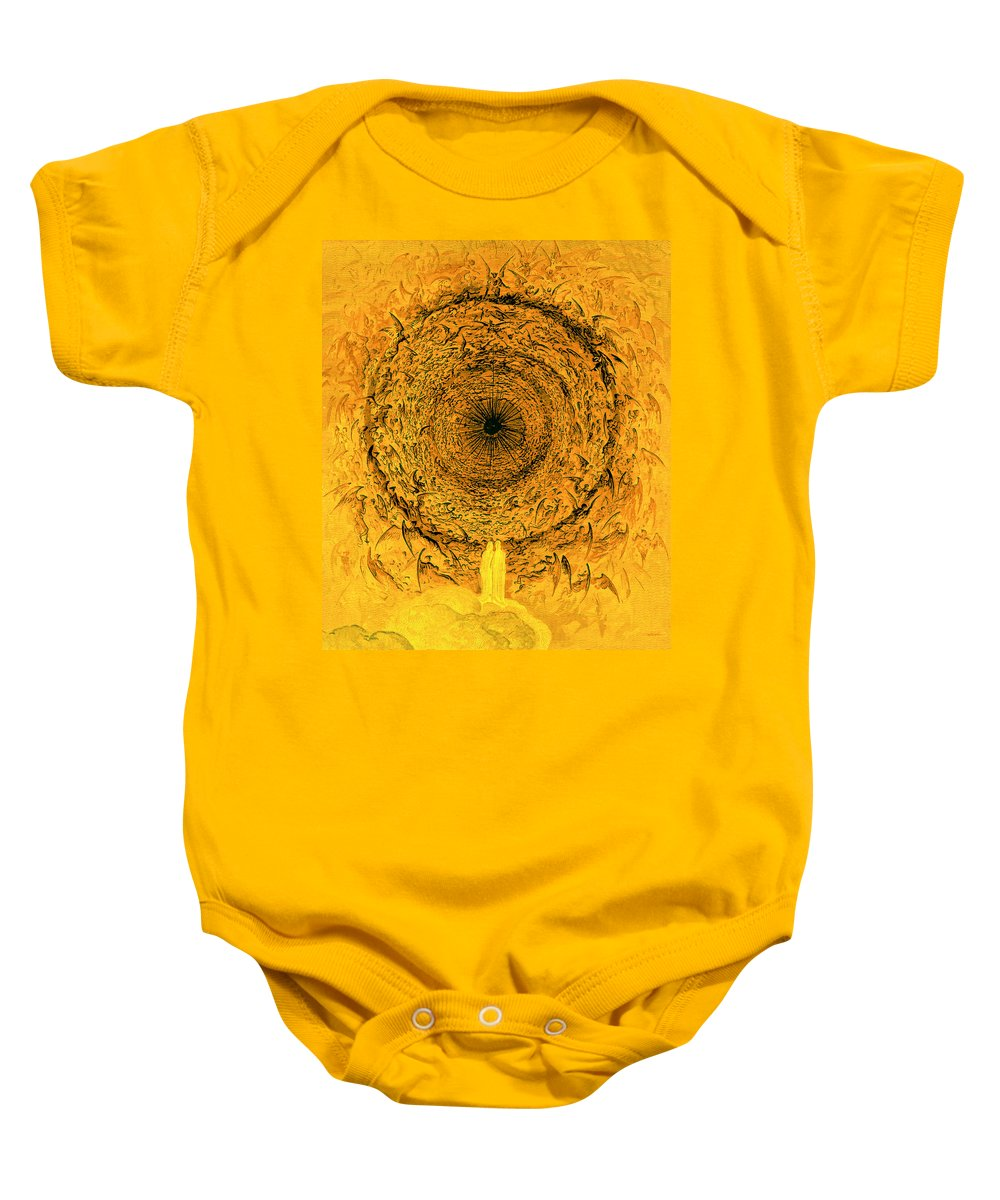The Vision Of The Empyrean Baby Onesie featuring the painting The Vision Of The Empyrean by Gustave Dore