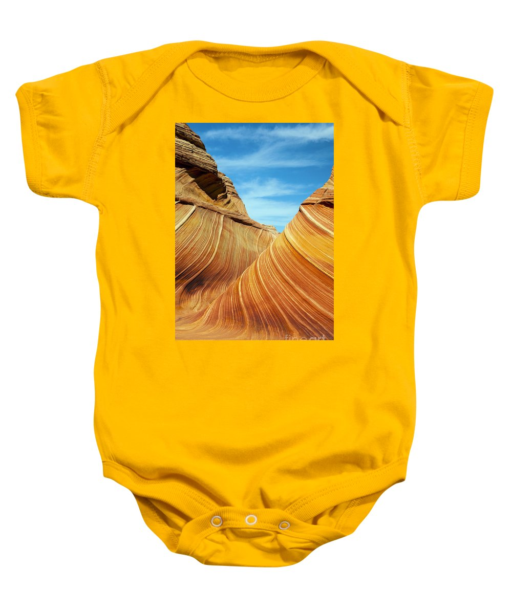 The Wave Baby Onesie featuring the photograph The Wave by Bob Phillips