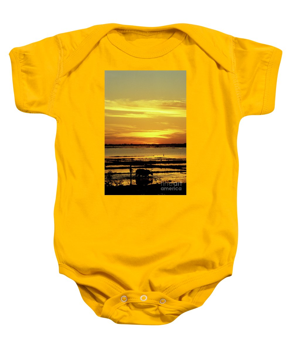 Cambodia Baby Onesie featuring the photograph Tonle Sap Sunrise 02 by Rick Piper Photography
