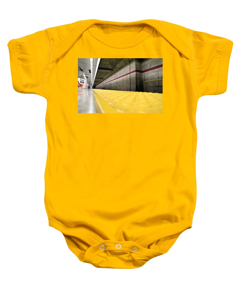 Toronto Baby Onesie featuring the photograph Toronto Subway Station by Valentino Visentini