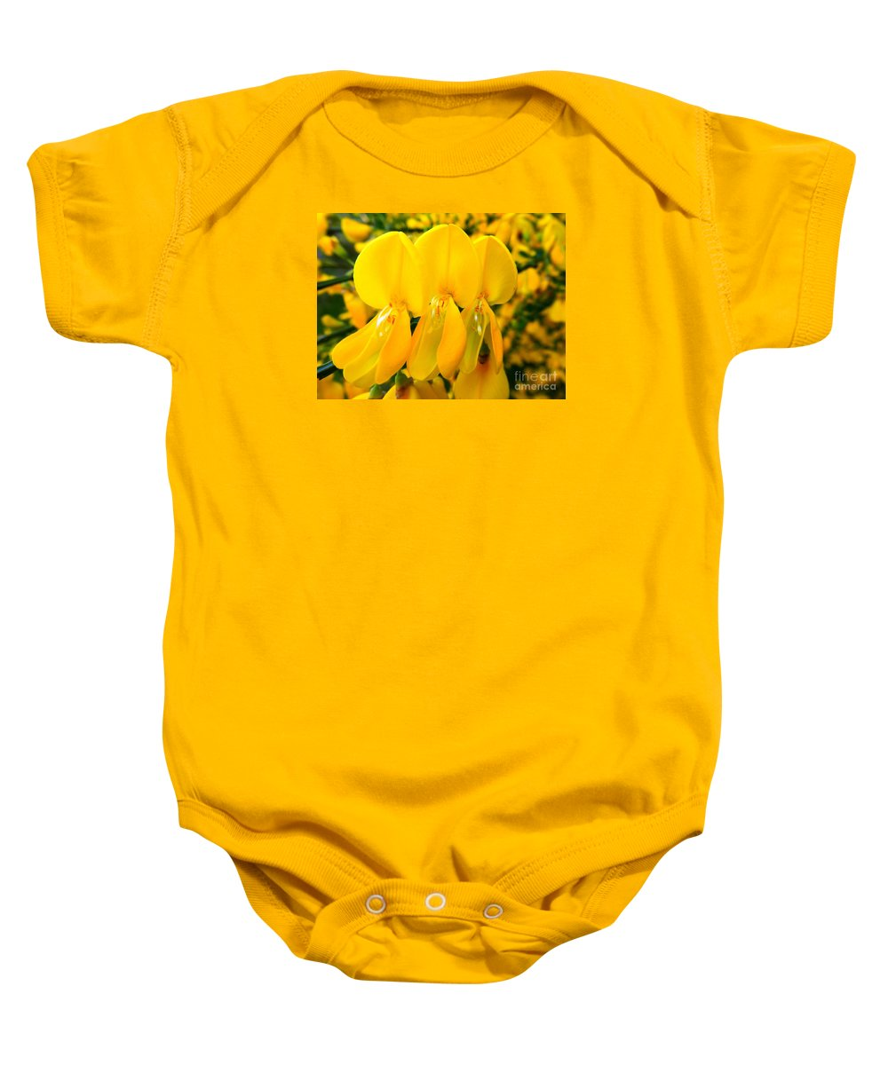 Floral Baby Onesie featuring the photograph Triplet by Loreta Mickiene