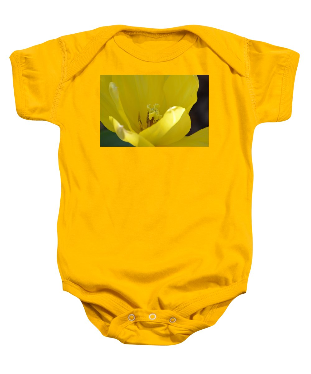 Tulip Heart Baby Onesie featuring the photograph Tulip Heart by Maria Urso