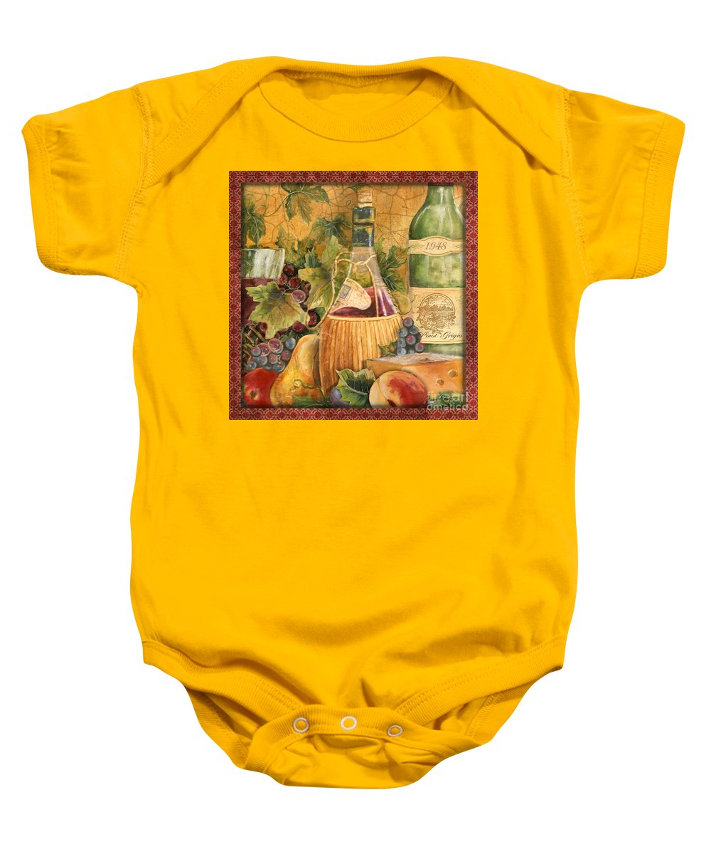 Original Baby Onesie featuring the painting Tuscan Wine-c by Jean Plout