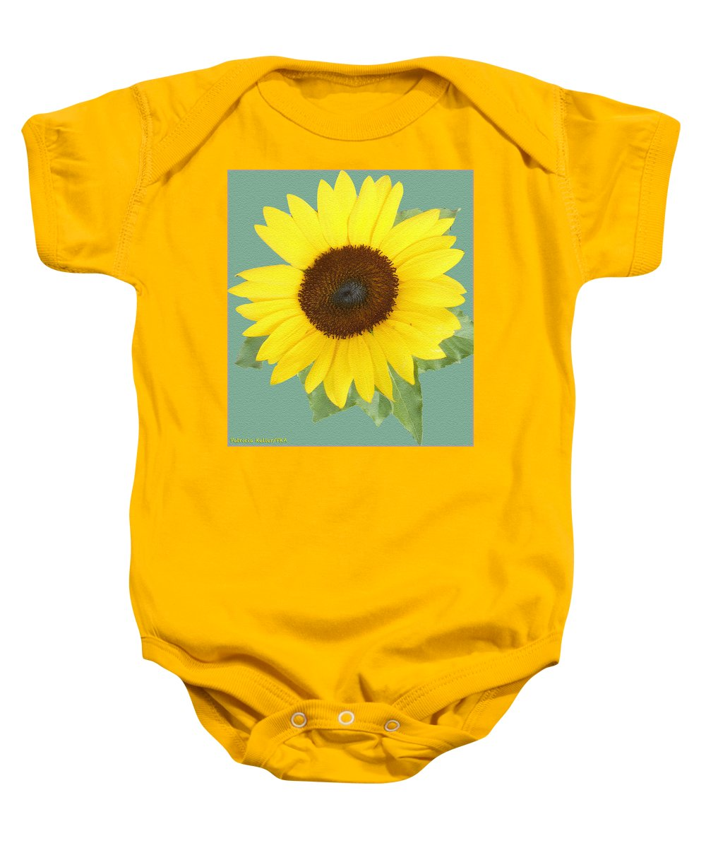 Sunflower Baby Onesie featuring the photograph Under The Sunflower's Spell by Patricia Keller