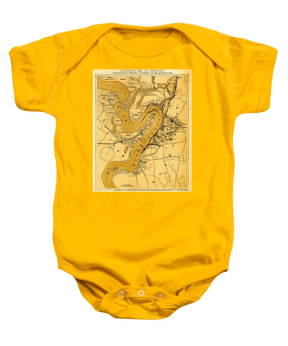 Vicksburg Baby Onesie featuring the photograph Vicksburg And Its Defenses by Mountain Dreams