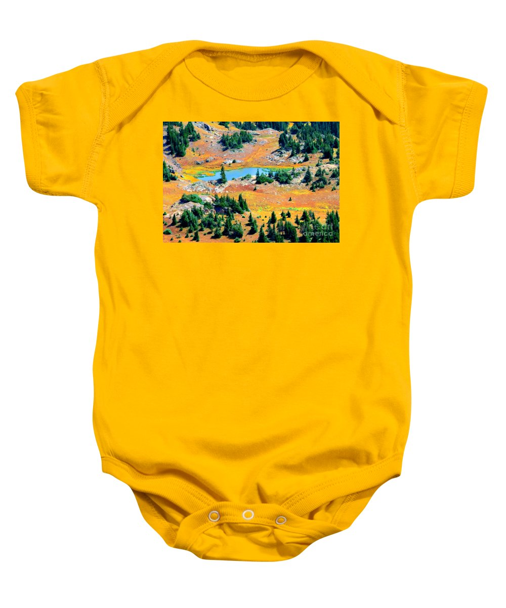 Lake Baby Onesie featuring the photograph View Of Lake by Kathleen Struckle