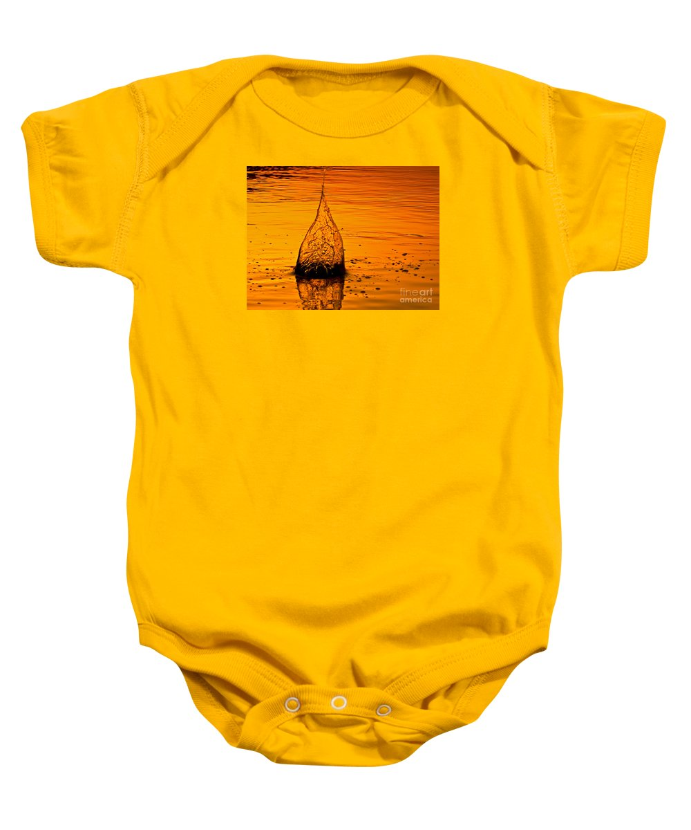 Color Baby Onesie featuring the photograph Water Fire by Leyla Ismet