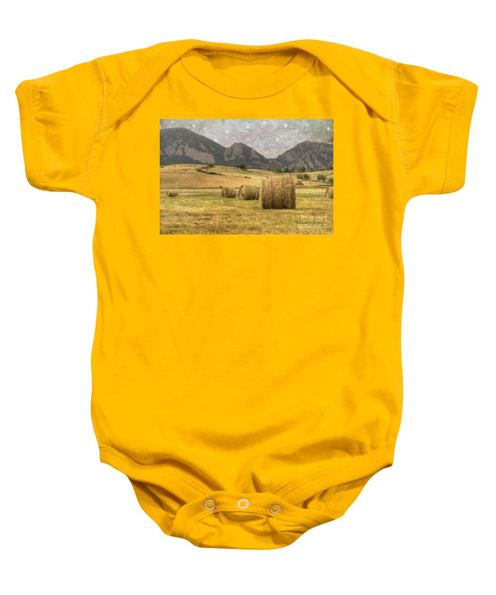 Agriculture Baby Onesie featuring the photograph What The Hay by Juli Scalzi