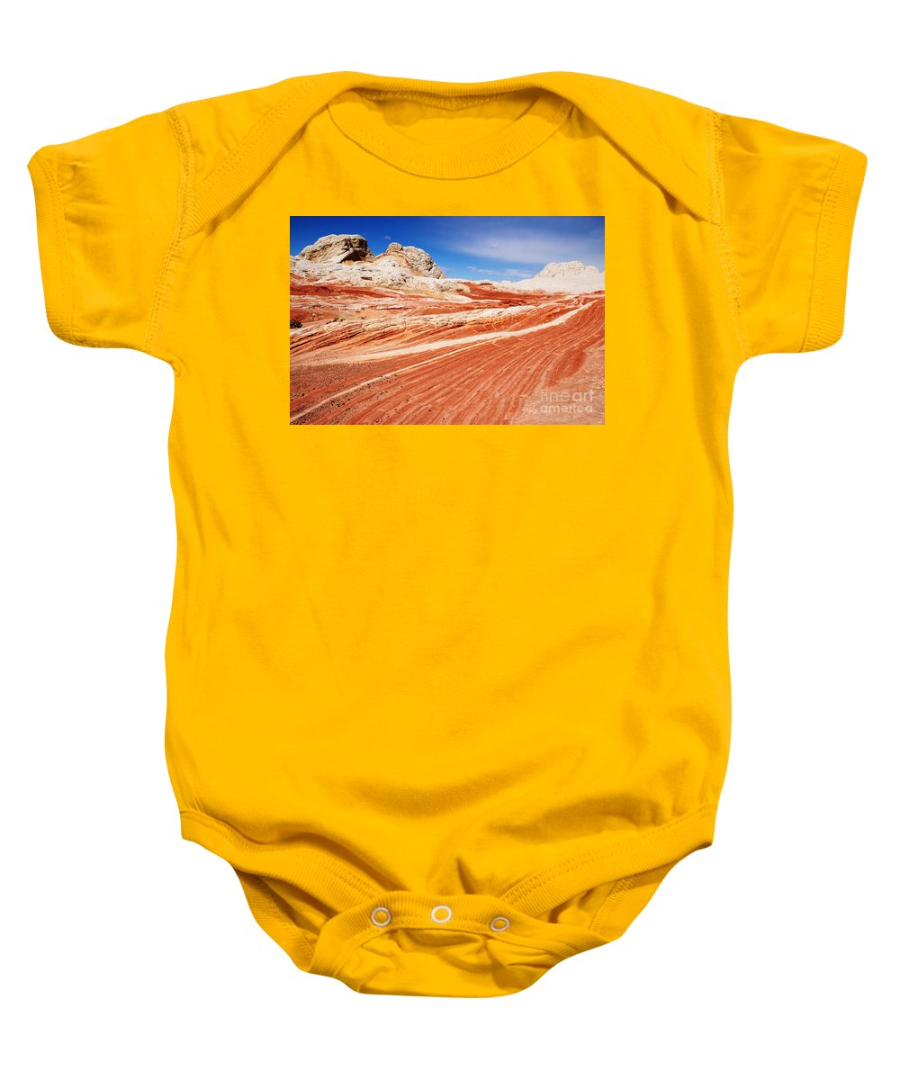 White Pocket Baby Onesie featuring the photograph White Pocket 2 by Vivian Christopher
