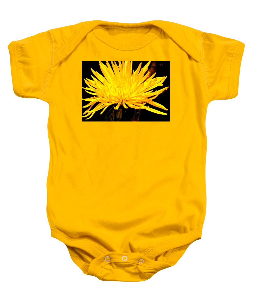 Yellow Baby Onesie featuring the photograph Yellow Flash by Ian MacDonald