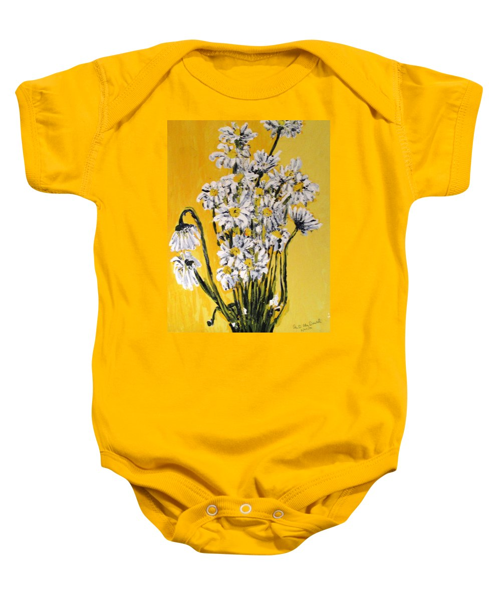Daisy Baby Onesie featuring the painting Yellow by Ian MacDonald