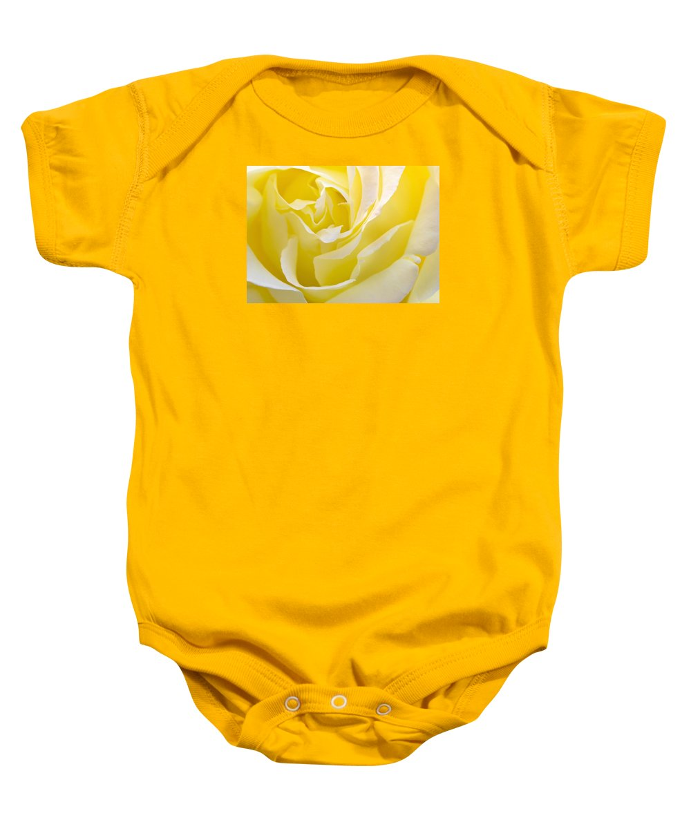 Rose Baby Onesie featuring the photograph Yellow Rose by Svetlana Sewell
