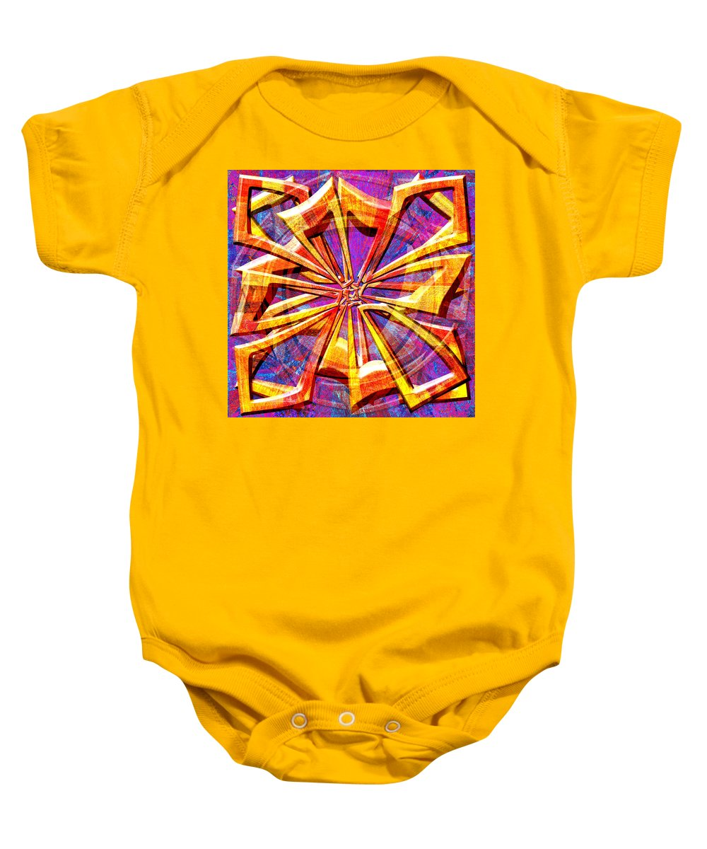 Abstract Baby Onesie featuring the digital art 0692 Abstract Thought by Chowdary V Arikatla