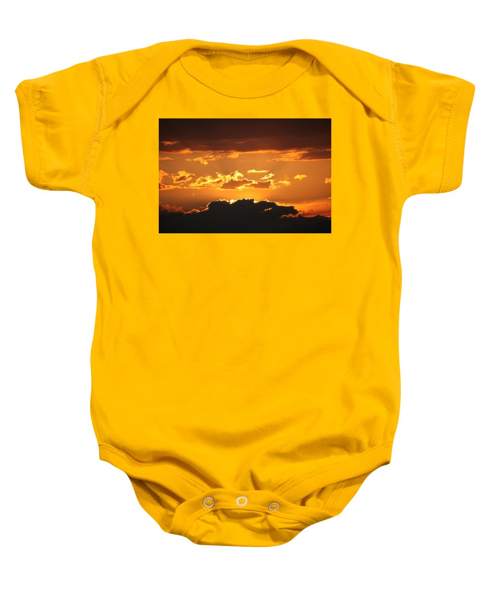 Sunset Baby Onesie featuring the photograph Sunset by Francesco Scali