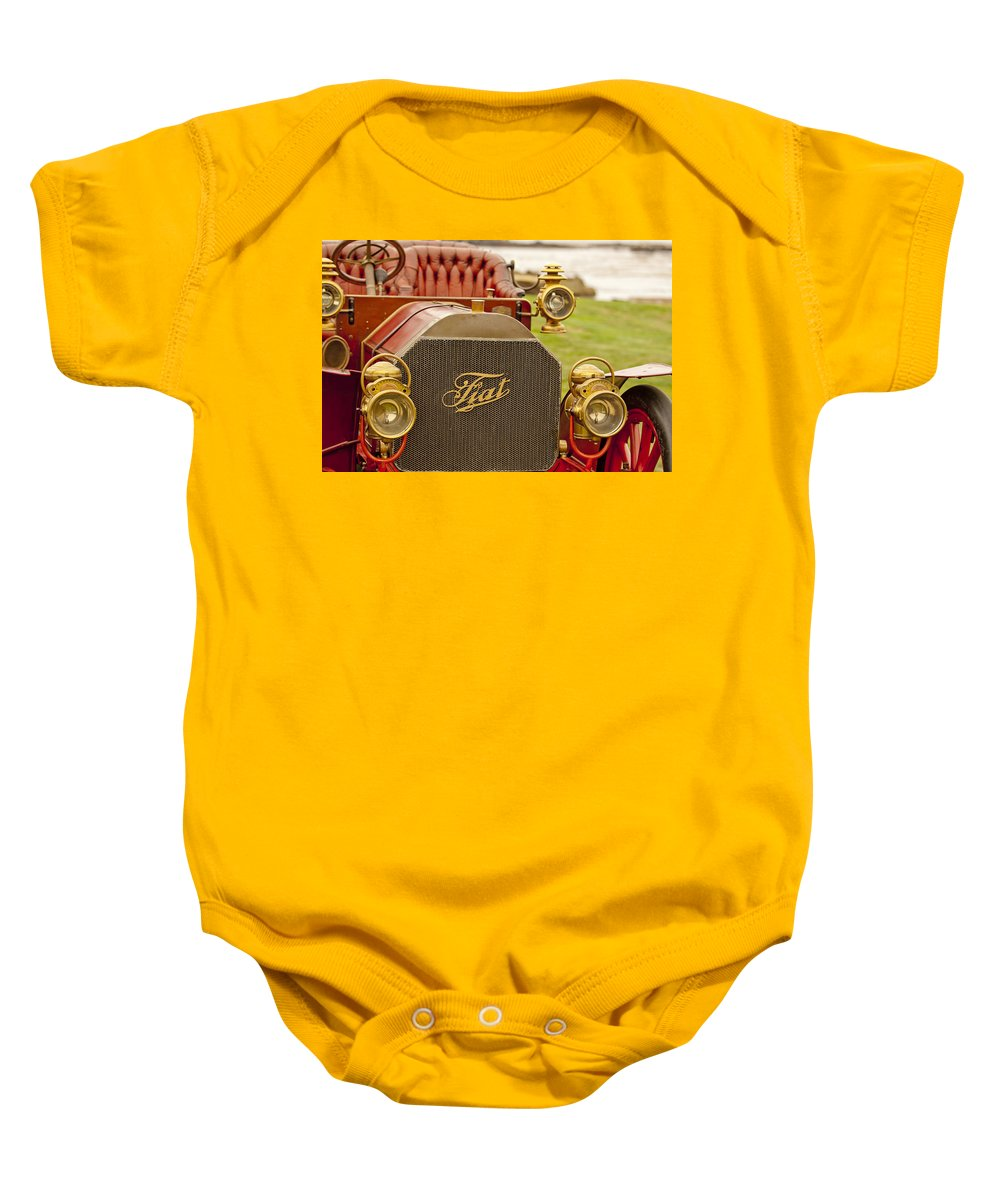 1905 Fiat 60hp Quimby Touring Baby Onesie featuring the photograph 1905 Fiat 60hp Quimby Touring by Jill Reger