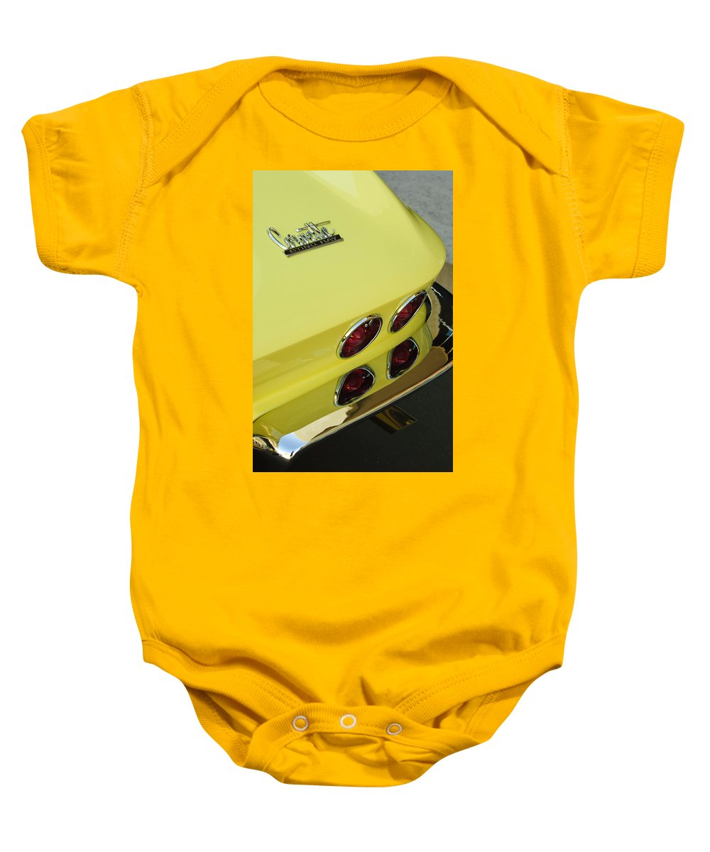 1967 Chevrolet Corvette Baby Onesie featuring the photograph 1967 Chevrolet Corvette Taillight by Jill Reger