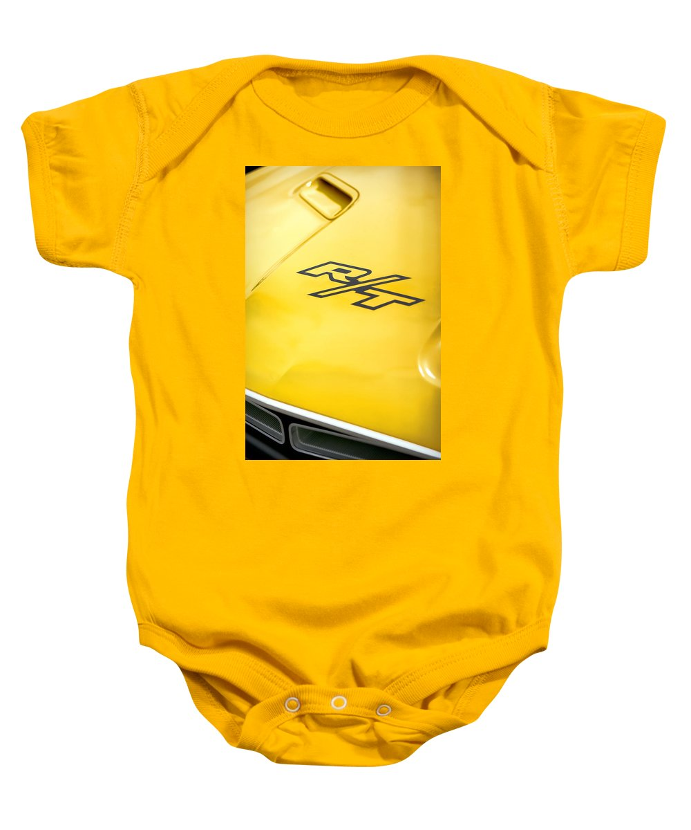 1971 Baby Onesie featuring the photograph 1971 Dodge Challenger Rt by Gordon Dean II