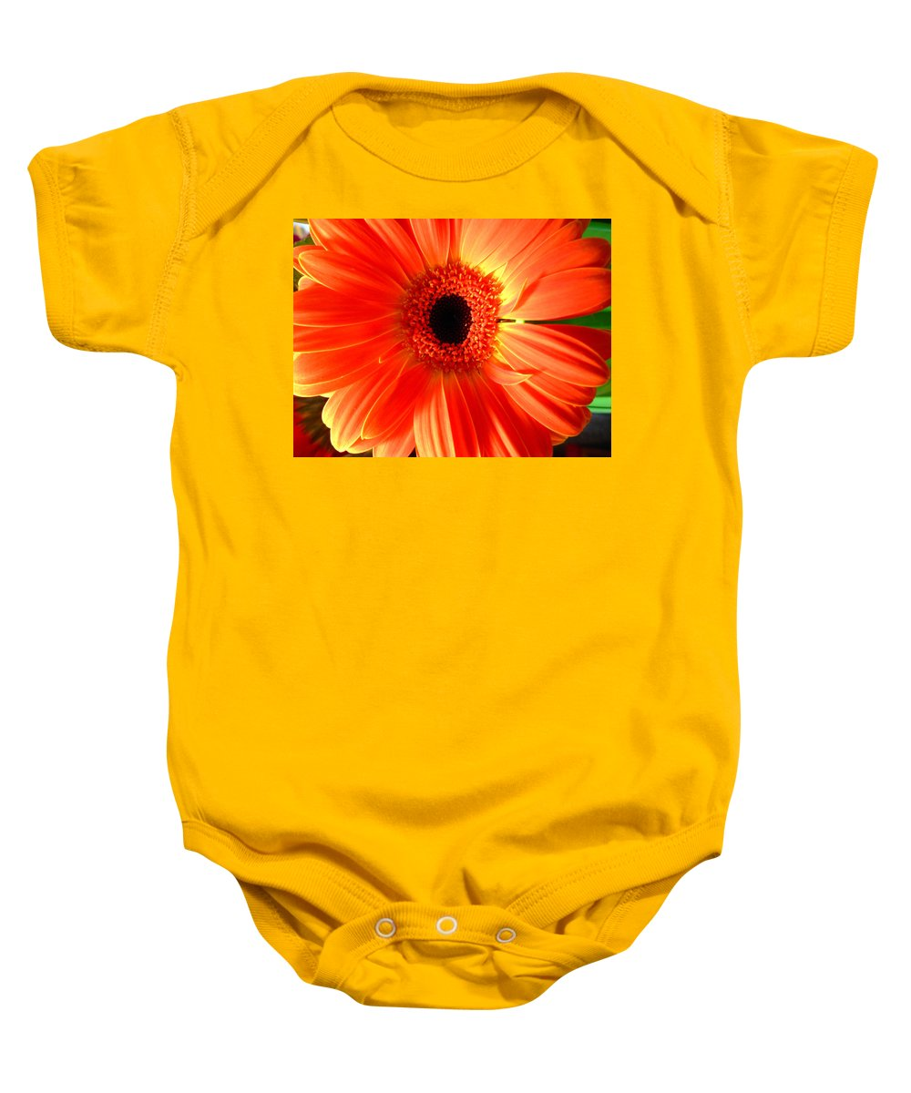 Gerbera Photographs Baby Onesie featuring the photograph 2120a by Kimberlie Gerner
