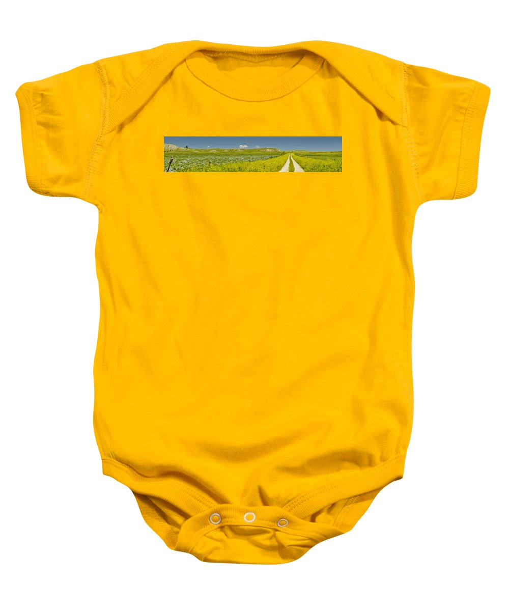 9 Mile Road Baby Onesie featuring the photograph 9 Mile Road by Roderick Bley