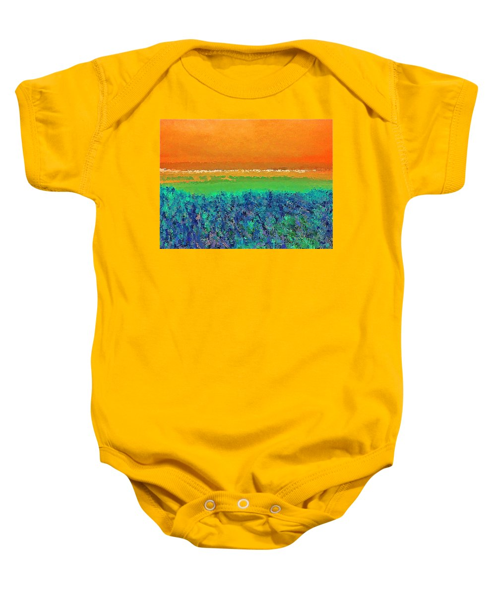 Abstract Baby Onesie featuring the photograph Abstract 133 by Pamela Cooper
