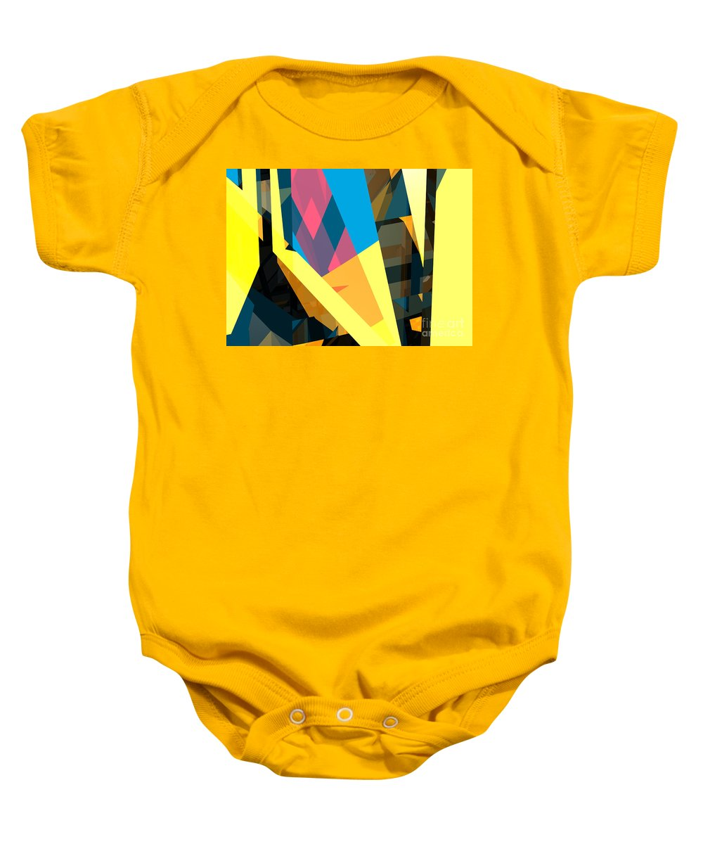 Abstract Baby Onesie featuring the digital art Abstract Sine L 16 by Russell Kightley