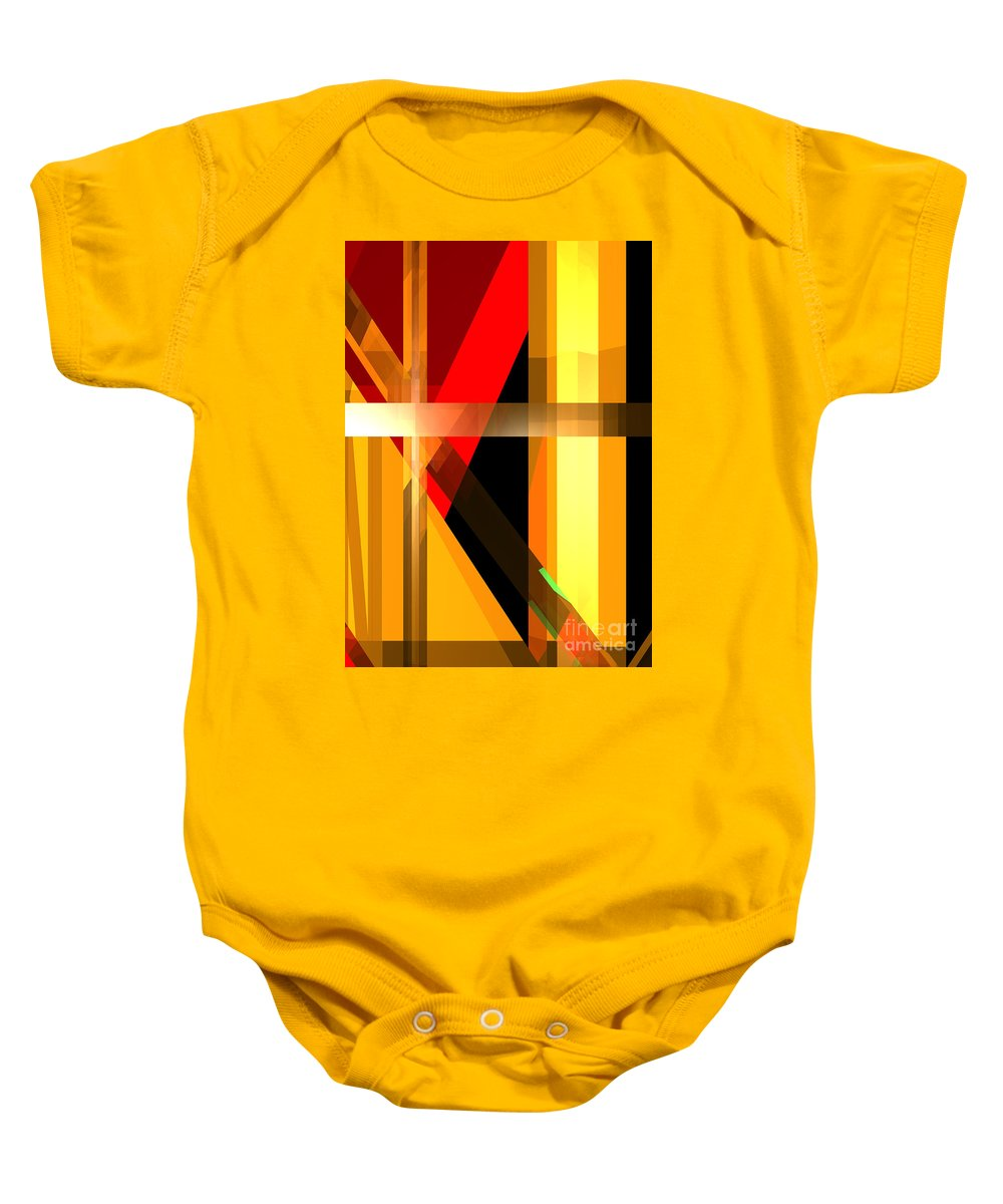 Abstract Baby Onesie featuring the digital art Abstract Tan 6 by Russell Kightley