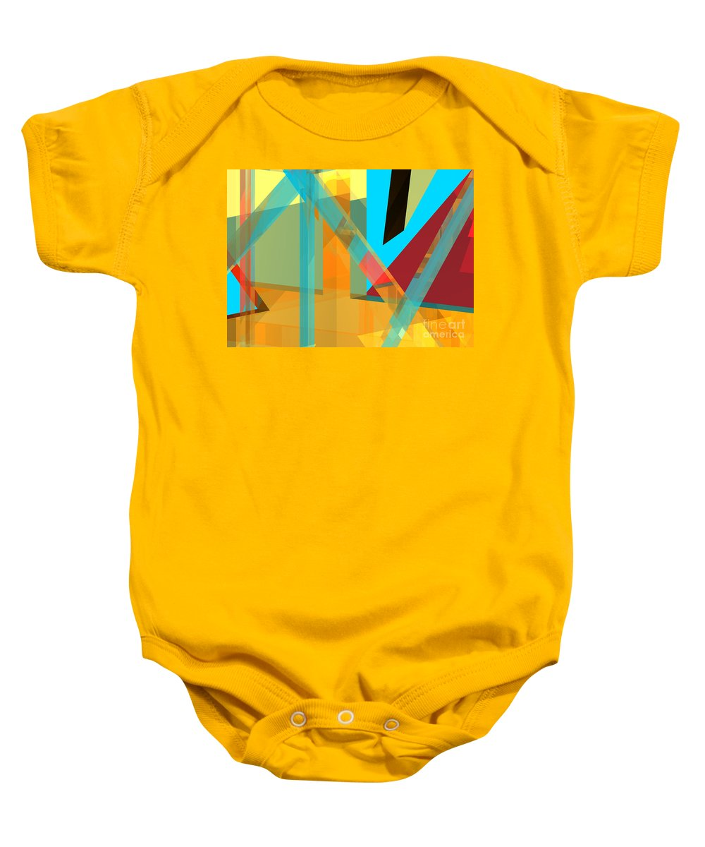 Abstract Baby Onesie featuring the digital art Abstract Tan 8 by Russell Kightley