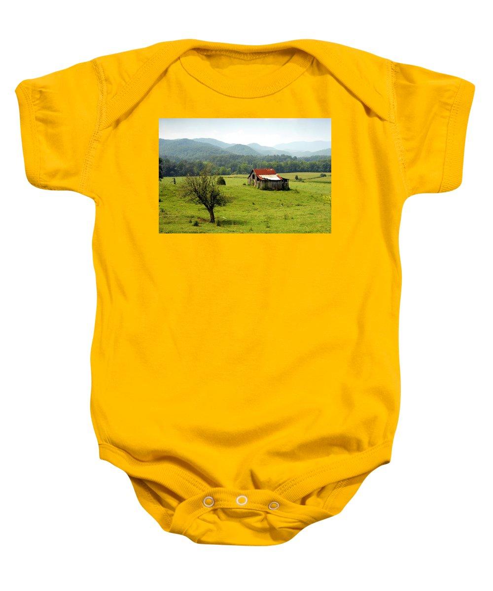 Apalachia Baby Onesie featuring the photograph Apalachia by David Lee Thompson
