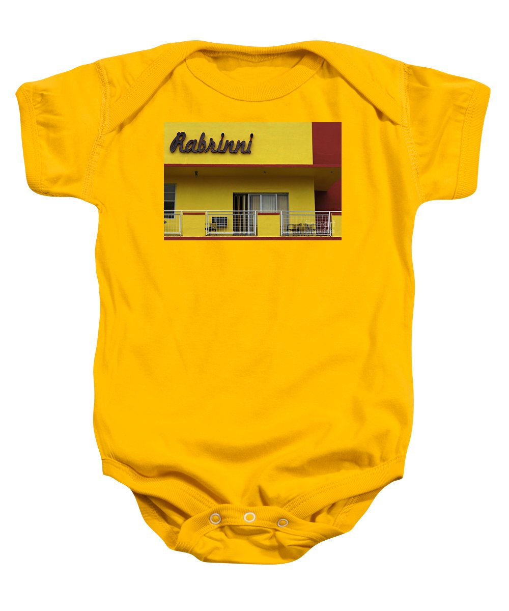 Rabrinni Hotel Baby Onesie featuring the photograph Art Deco Miami 7 by Bob Christopher