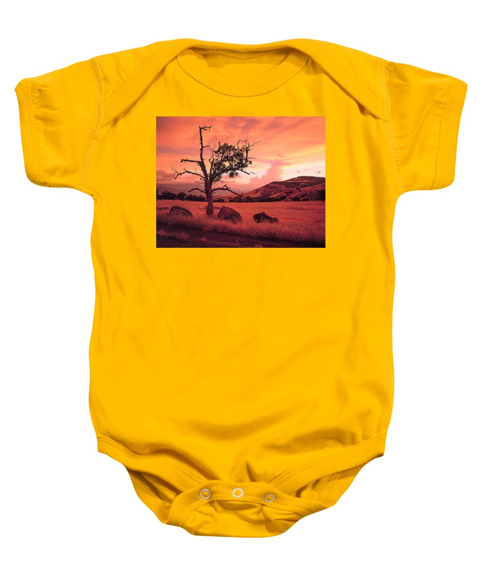 Ashland Baby Onesie featuring the photograph Ashland Sunset by Mike Penney