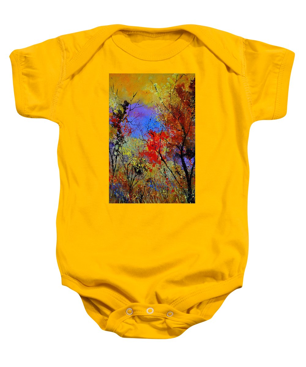 Landscape Baby Onesie featuring the painting Autumn 458963 by Pol Ledent