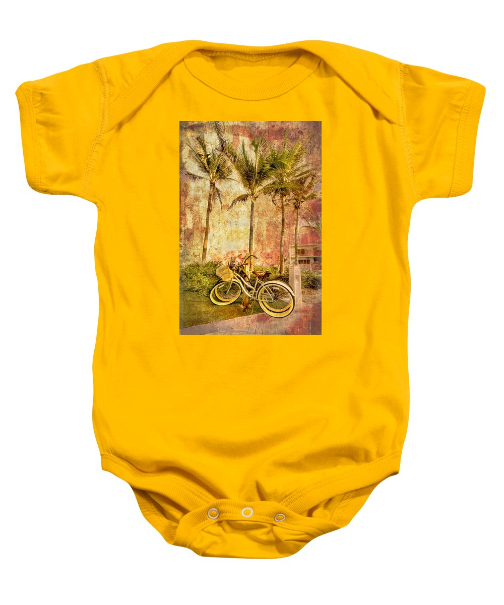 Clouds Baby Onesie featuring the photograph Beachy Keen by Debra and Dave Vanderlaan