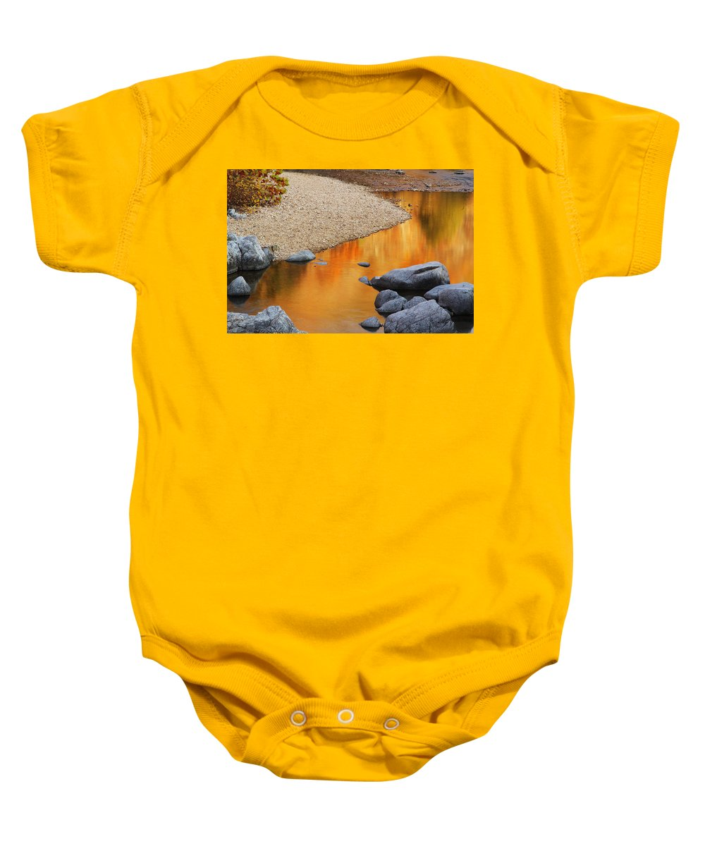 Relections Baby Onesie featuring the photograph Black River Reflections At Johnsons Shut Ins State Park I by Greg Matchick