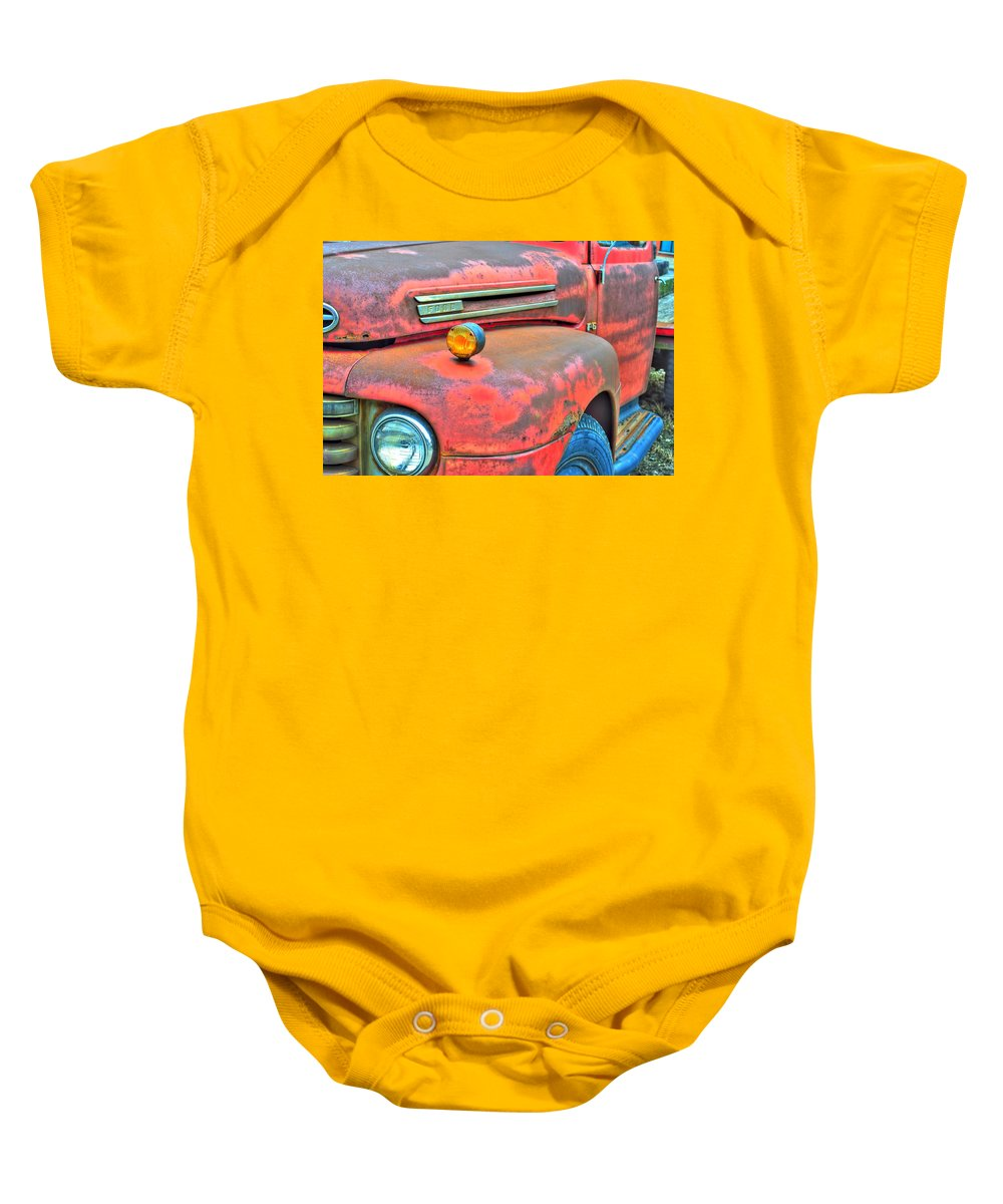 Baby Onesie featuring the photograph Built Like A Rock Series 03 by Michael Frank Jr