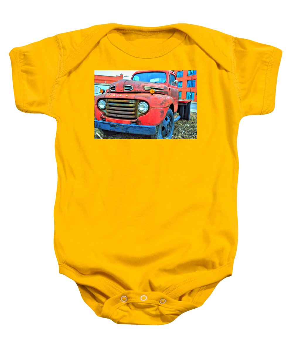 Baby Onesie featuring the photograph Built Like A Rock Series 05 by Michael Frank Jr