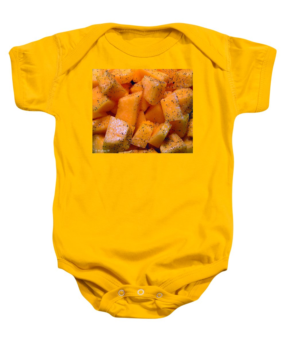 2d Baby Onesie featuring the photograph Cantaloupe by Brian Wallace