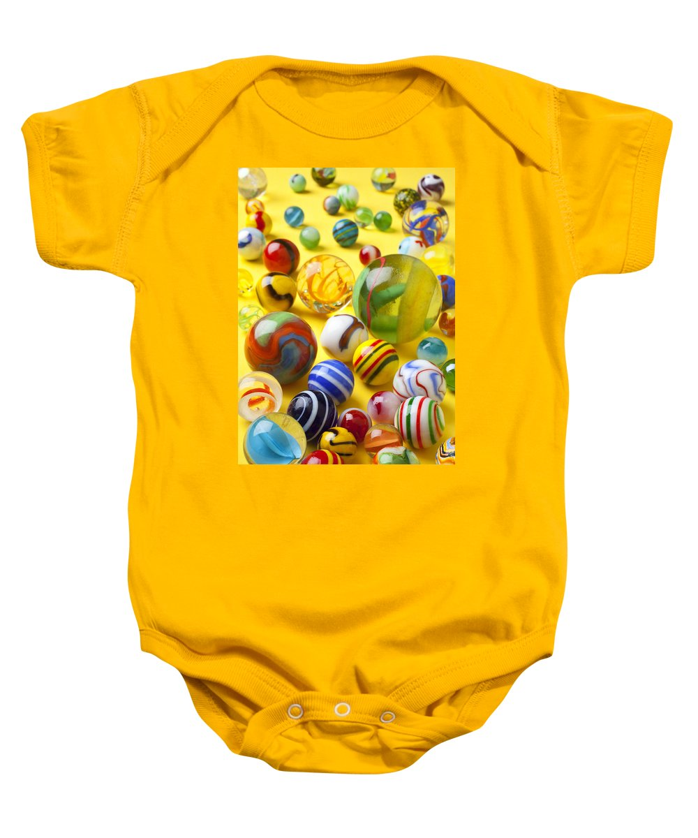 Marbles Baby Onesie featuring the photograph Colorful Marbles Two by Garry Gay