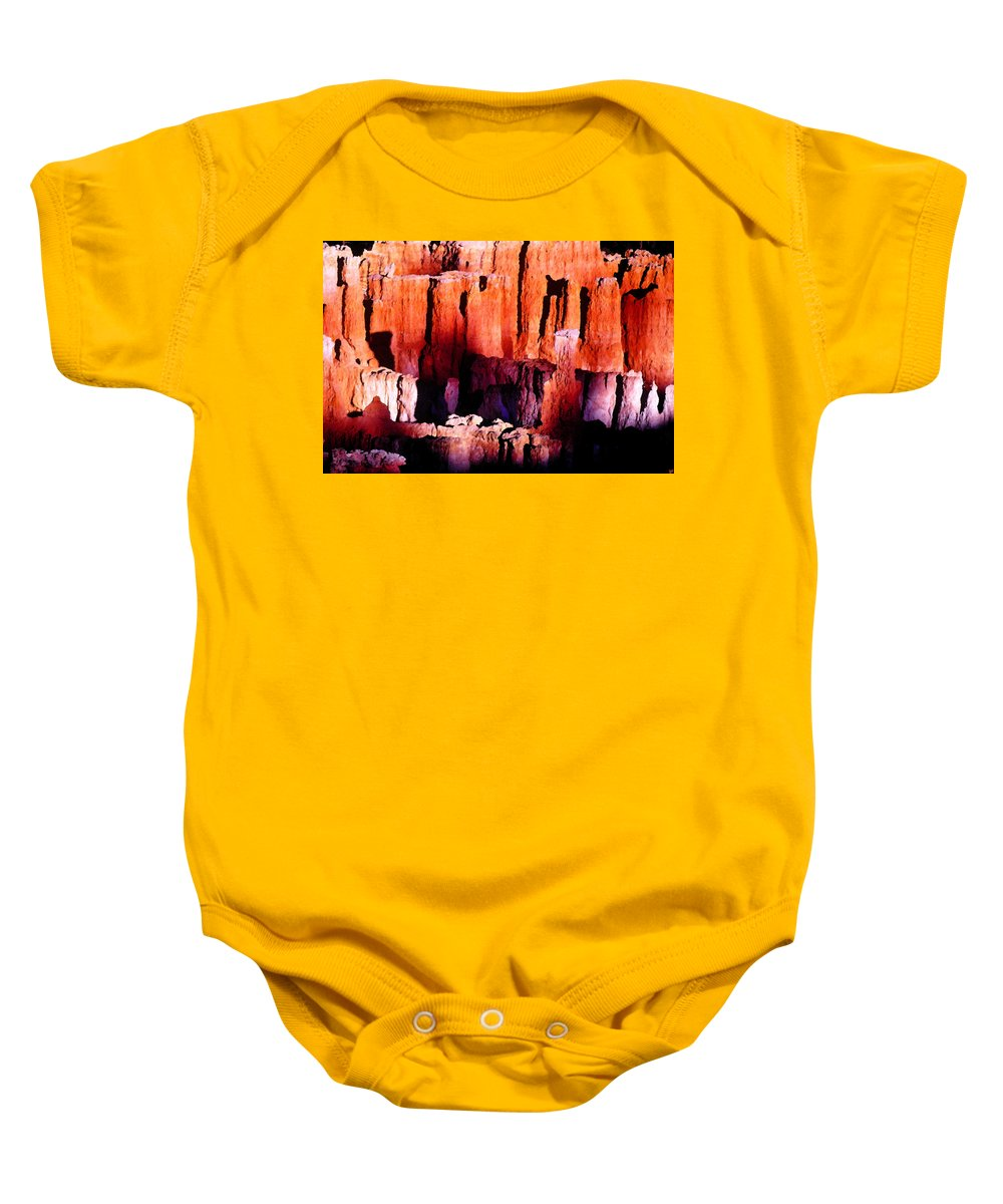 Art Baby Onesie featuring the painting Colors Of Bryce by David Lee Thompson