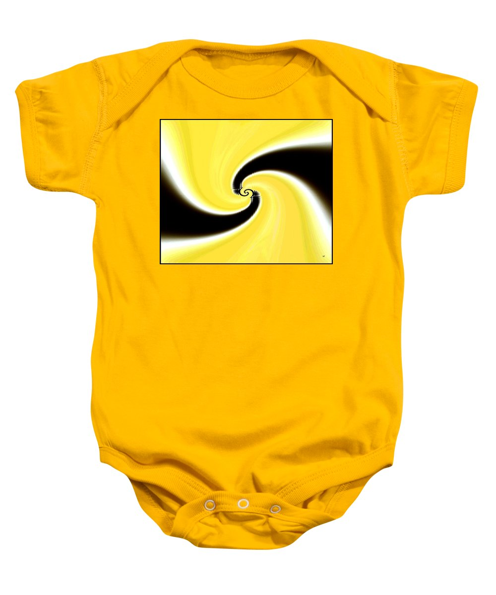 Abstract Baby Onesie featuring the digital art Conceptual 20 by Will Borden