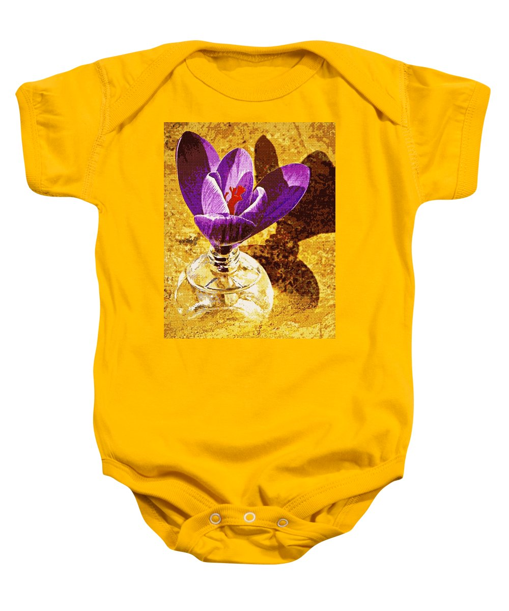Nature Baby Onesie featuring the photograph Crocus Graphic by Chris Berry