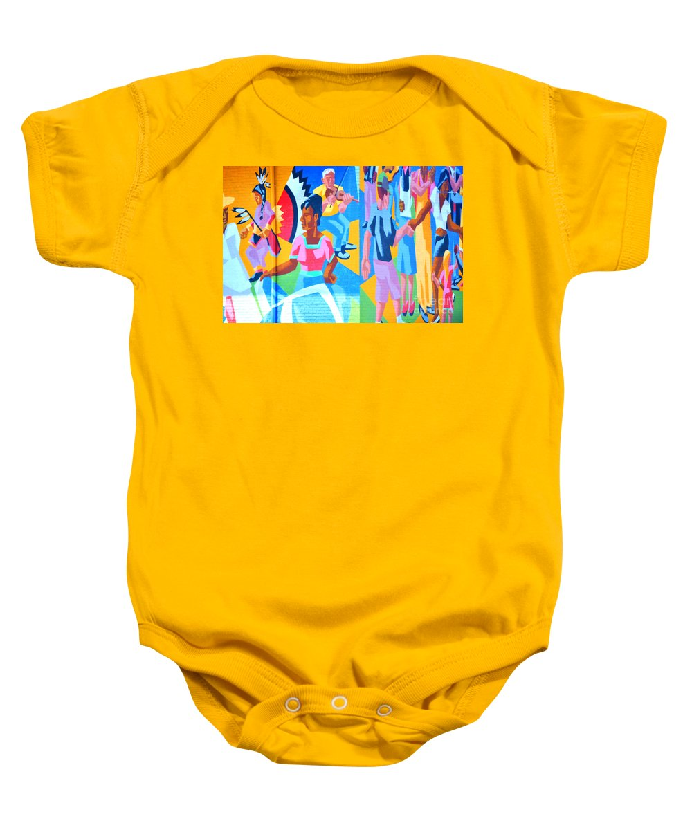 Mural Baby Onesie featuring the photograph Dance by Anjanette Douglas