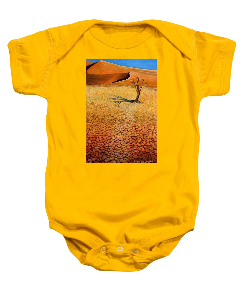 Desert Baby Onesie featuring the painting Desert Pan by Caroline Street