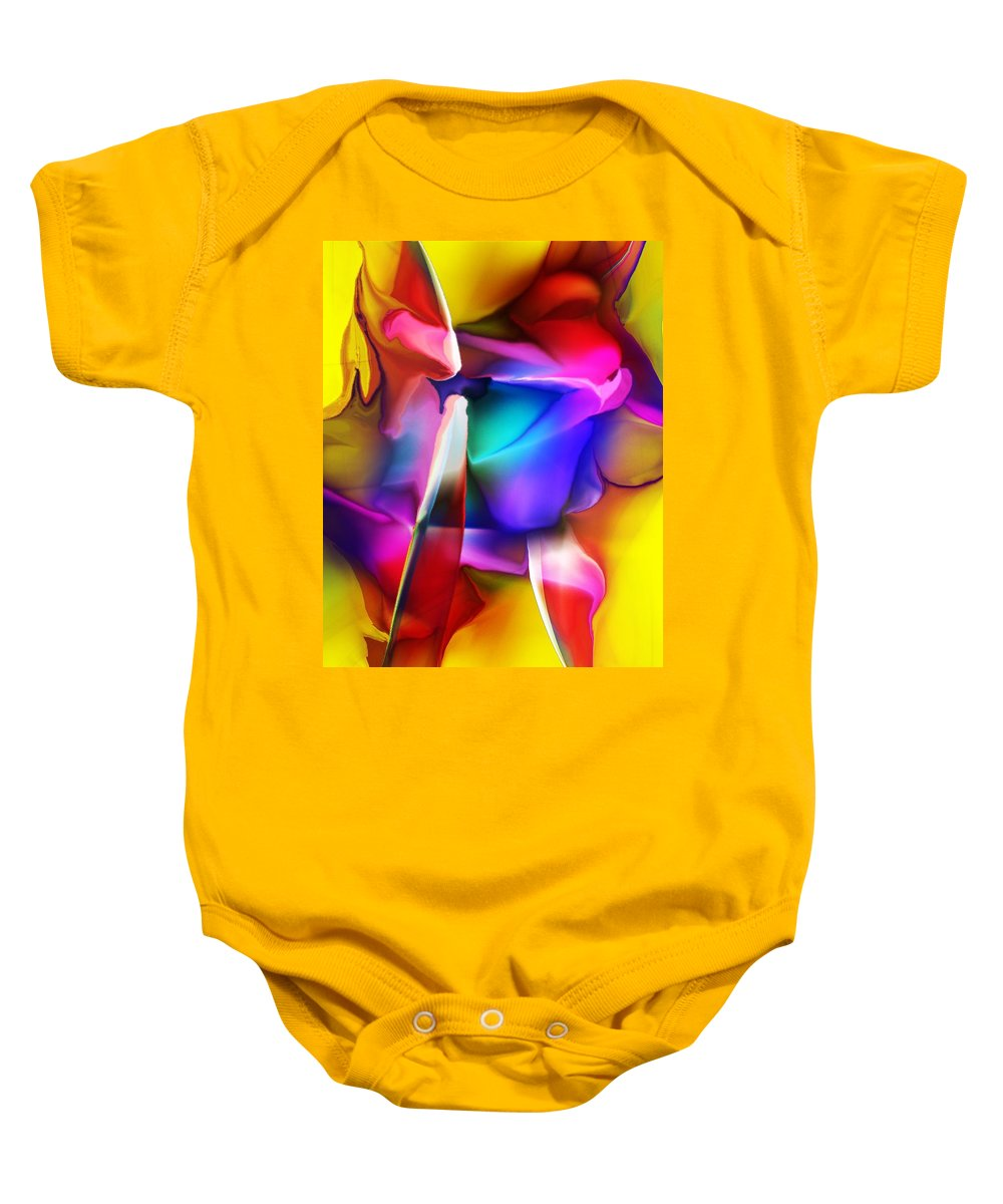Fine Art Baby Onesie featuring the digital art Erotica Intended by David Lane