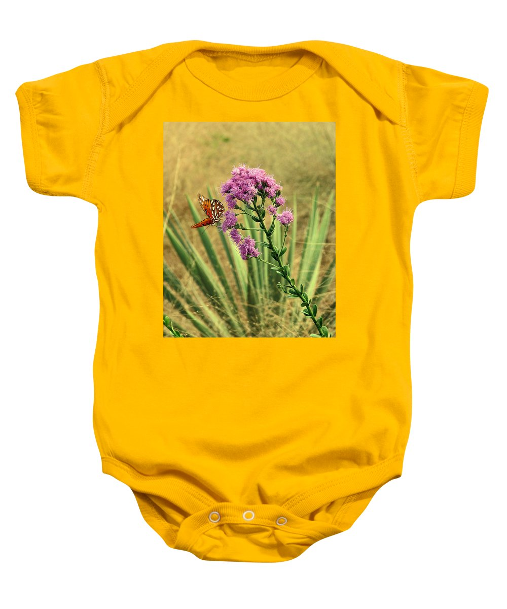 Nature Baby Onesie featuring the photograph Florida Paintbrush by Peg Urban