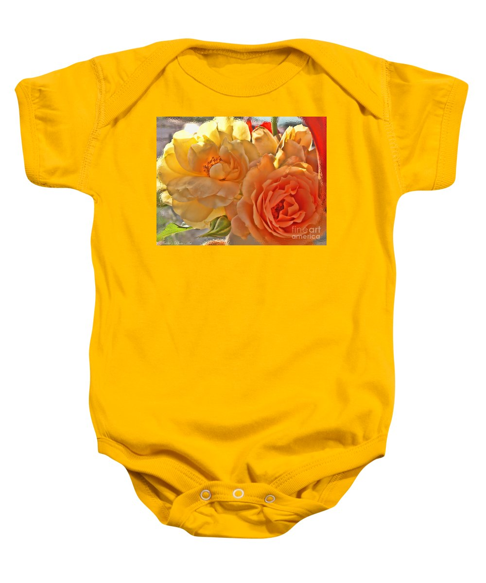 Nature Baby Onesie featuring the photograph Golden Light by Debbie Portwood