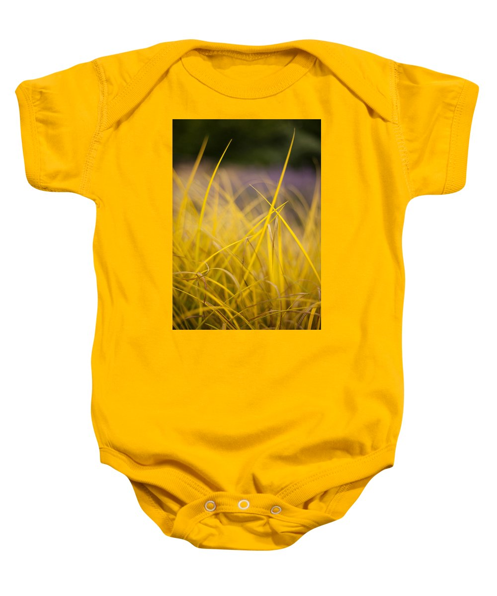 Grass Baby Onesie featuring the photograph Grass Abstract 3 by Mike Reid