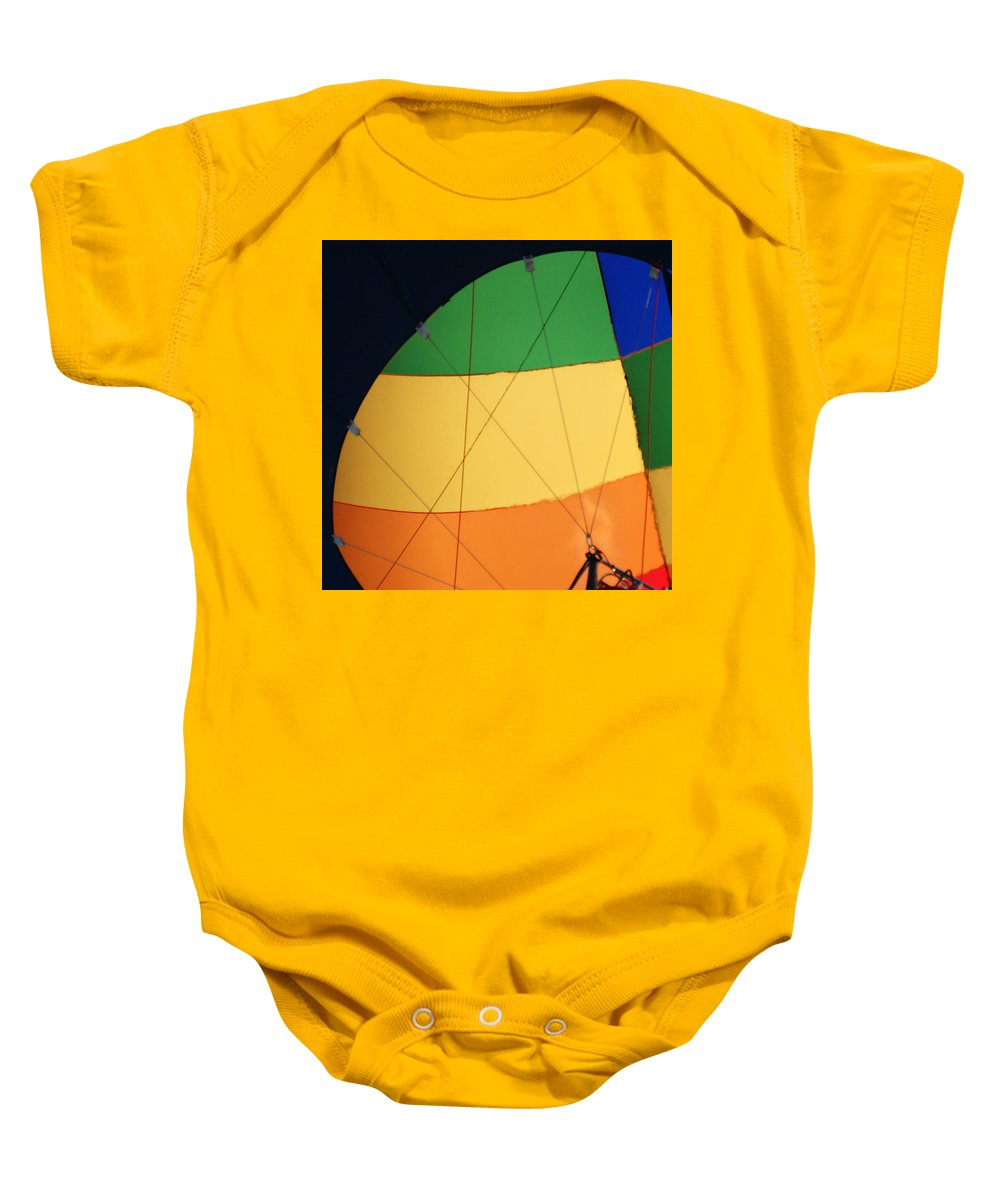 Balloons Baby Onesie featuring the photograph Hot Air Balloon Rigging by Ernie Echols