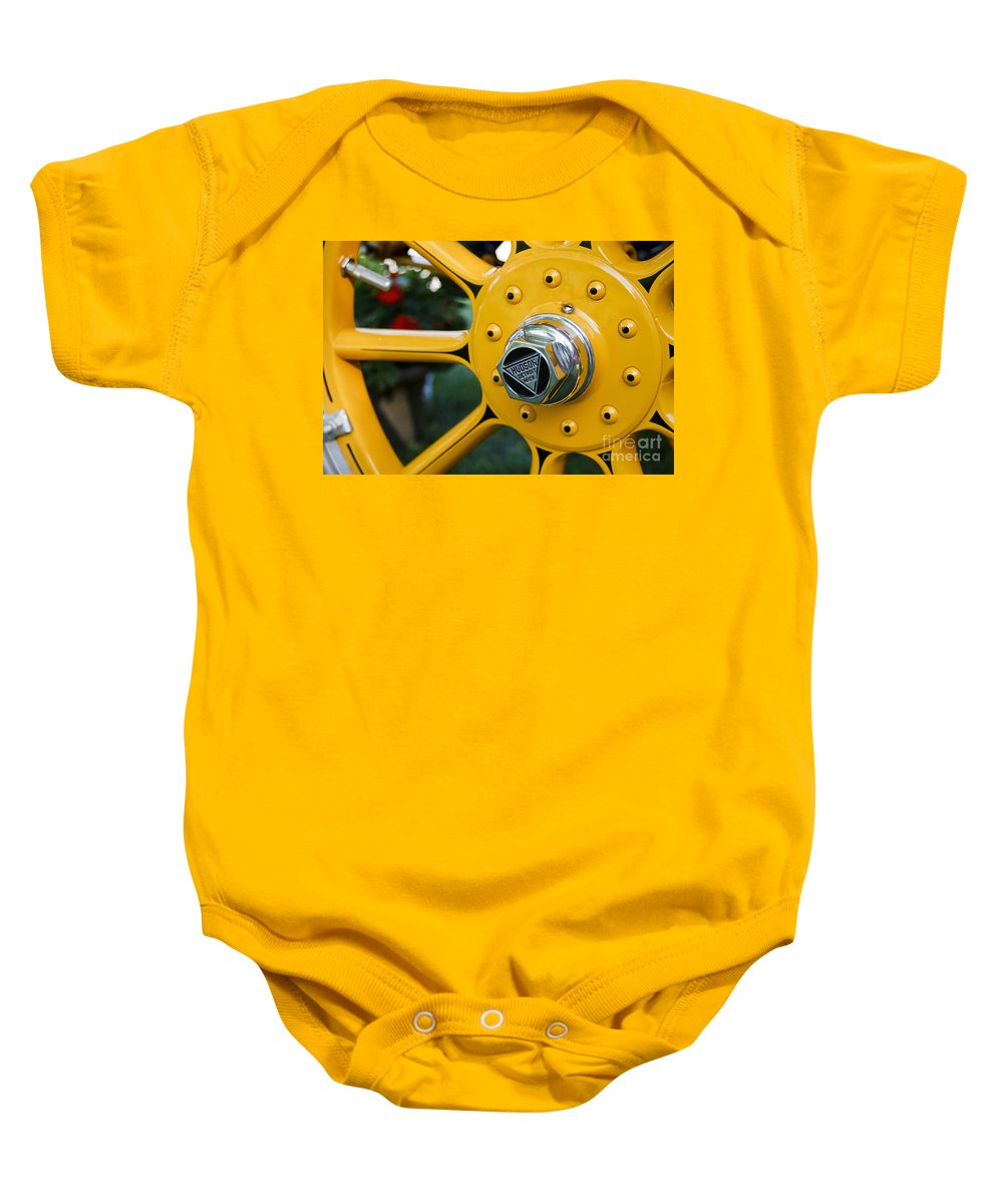 Classic Baby Onesie featuring the photograph Hudson Wheel by Dennis Hedberg