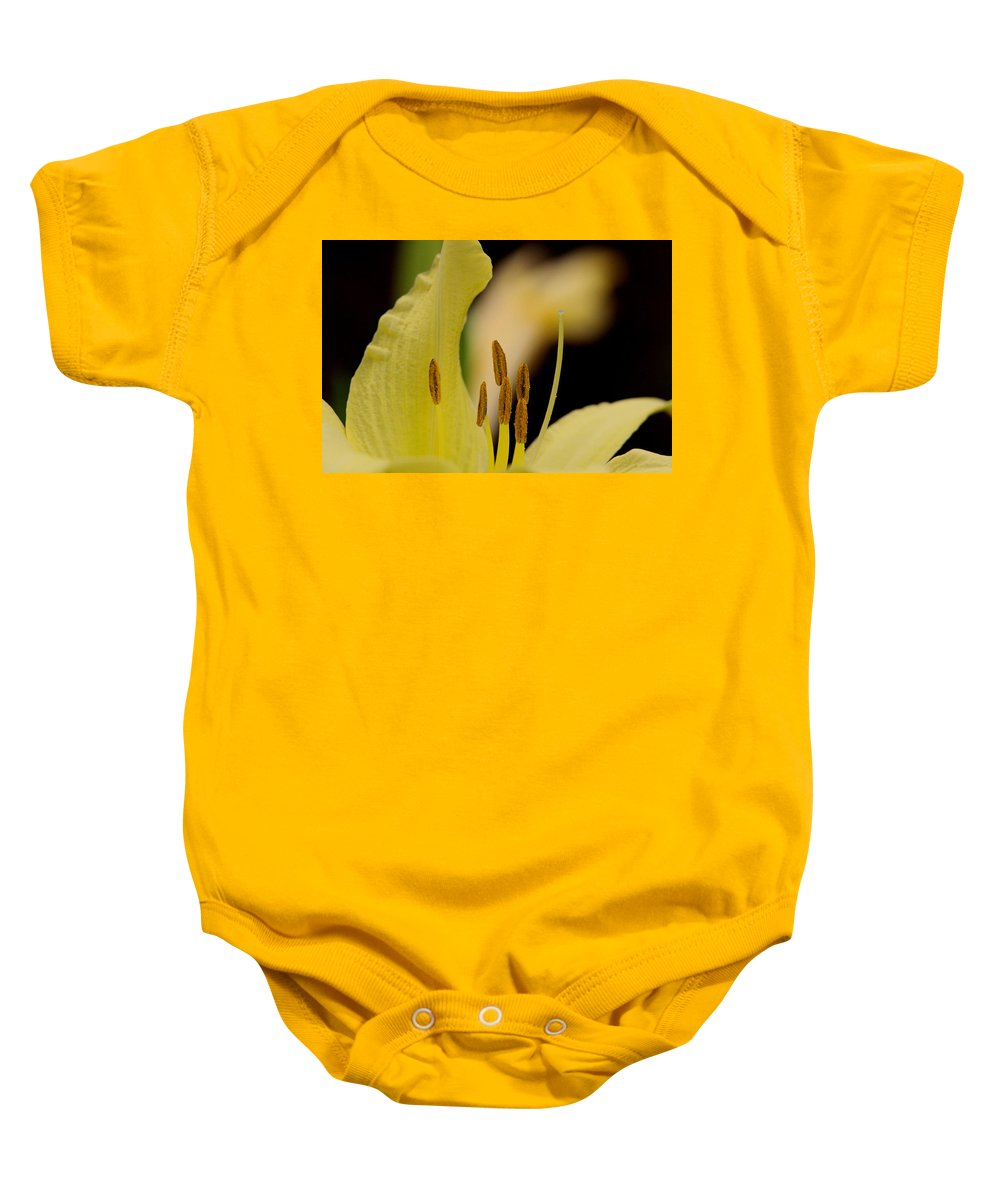 Lily Baby Onesie featuring the photograph Lily - Flower - Fore And Aft by Travis Truelove